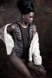 Moda zirytowany model Obrazy Royalty Free