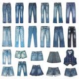 Modalidade das calças de brim Foto de Stock Royalty Free