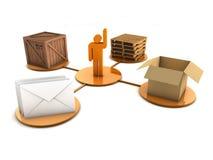 Modalidade do conceito da entrega (isolado) ilustração stock