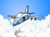 Modalidade do vôo do discrição ilustração royalty free
