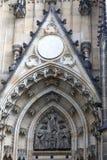 Modanatura della st Vitus Cathedra del timpano Fotografia Stock Libera da Diritti