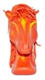 Modanatura equino del plasticine Fotografia Stock