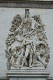 Modanature su Arc de Triomphe immagini stock libere da diritti