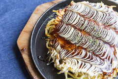 Modanyaki Okonomiyaki Japanses Pizza Royalty Free Stock Image