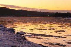 Modder in rivier Neris royalty-vrije stock afbeelding