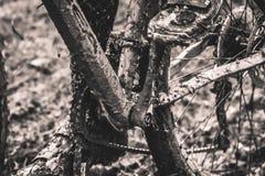 Modderig cyclo-kruis & mbk ras Royalty-vrije Stock Afbeeldingen