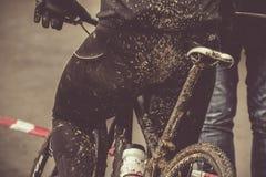 Modderig cyclo-kruis & mbk ras Stock Foto