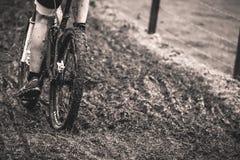 Modderig cyclo-kruis & mbk ras Royalty-vrije Stock Foto