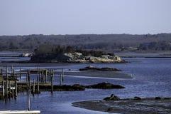 Modderig landschap Stock Fotografie