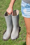 Modderige laarzen Stock Fotografie