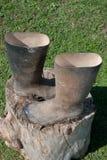 Modderige laarzen Royalty-vrije Stock Afbeelding