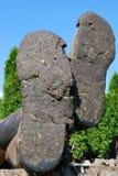 Modderige laarzen Royalty-vrije Stock Fotografie