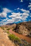 Modderige rivier in Utah royalty-vrije stock fotografie