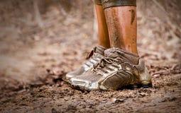 Modderige schoenen Royalty-vrije Stock Afbeeldingen