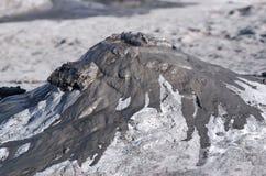 Modderige vulkaan royalty-vrije stock foto