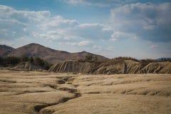 Modderige vulkanen Royalty-vrije Stock Fotografie