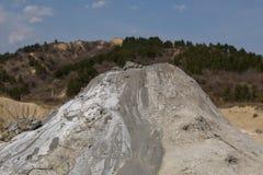 Modderige vulkanen Stock Afbeeldingen