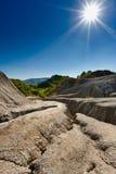 Modderige vulkanengrond Royalty-vrije Stock Fotografie