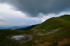 Modderige vulklei in bergen Royalty-vrije Stock Foto