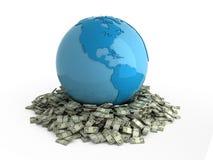 Modderpoel in geld Royalty-vrije Stock Foto