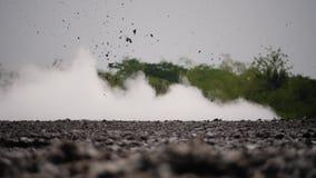 Moddervulkaan Bledug Kuwu, Indonesië stock videobeelden