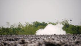 Moddervulkaan Bledug Kuwu, Indonesi? stock videobeelden