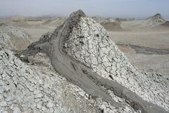 Moddervulkanen in het Nationale Park van Gobustan horizontaal Stock Foto