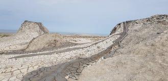 Moddervulkanen van Azerbeidzjan Royalty-vrije Stock Afbeeldingen