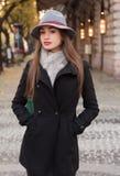 Mode élégante d'hiver Photo libre de droits