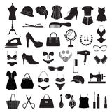 Mode-Accessoires - Illustration Lizenzfreies Stockbild