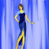 Mode bleue illustration libre de droits