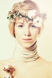Mode-blonde Frau Stockfotografie