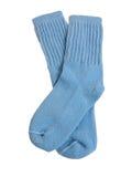 Mode : Chaussettes bleu-clair d'enfant en bas âge Photo stock