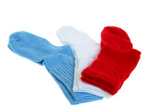 Mode : Chaussettes d'enfant en bas âge Photographie stock libre de droits