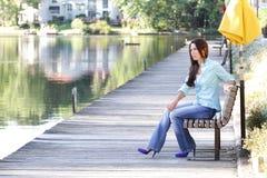 Mode d'automne de femme Photographie stock libre de droits