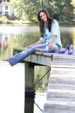 Mode d'automne de femme Photo stock