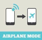 Mode d'avion - mode de vol Photos stock