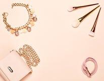 Mode-Dame Accessories Set Lizenzfreie Stockfotografie