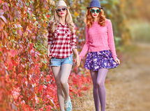 Mode de chute Fille Autumn Outfit élégant extérieur Photo stock