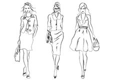 Mode de femmes Photographie stock libre de droits