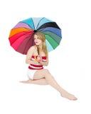 mode de fille de beachwear Photos libres de droits