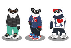 Mode 3 de mode de vie de panda Image libre de droits