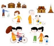 Mode de vie Asie illustration libre de droits