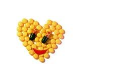 Mode de vie chimique de protection de calmant de médicament de pilule sain Photographie stock