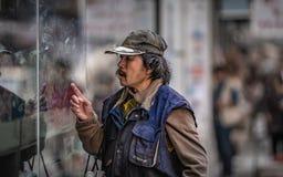 Mode de vie d'homme en Hong Kong photo stock