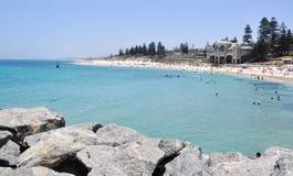 Mode de vie de plage : Cottesloe, Australie occidentale Image stock