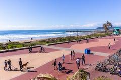 Mode de vie du front de mer d'océan de Durban photos stock