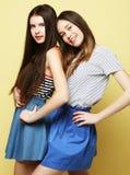 Mode de vie et concept de personnes : Deux amie se tenant ensemble Photo libre de droits