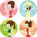 Mode de vie femelle Photos libres de droits