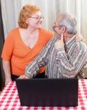 Mode de vie supérieur de couples photographie stock